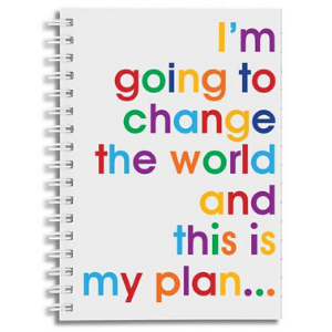 A6 Notebook – Change The World