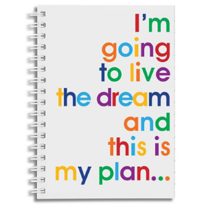 A6 Notebook – Live The Dream