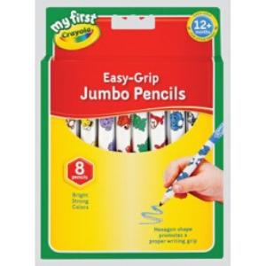 Crayola Easy Grip Jumbo Pencils -8pack
