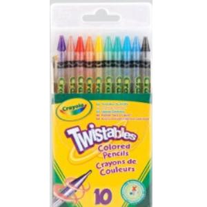 Crayola Twistable Coloured Pencils - 10pack
