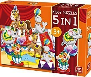 King 5-in-1-Kiddy Puzzles-Circus Animals Jigsaw