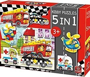 King 5-in-1 Kiddy Puzzles-Emergency Vehicles Jigsaw