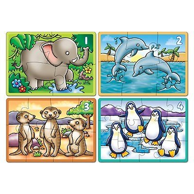 Orchard Toys- Animals Four In A Box Jigsaw Puzzle