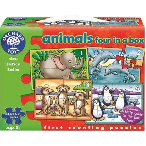 Orchard Toys Animals Four In A Box Jigsaw Puzzle