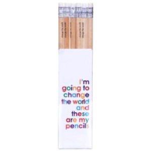 Pencil Set – Change The World – 6Pack