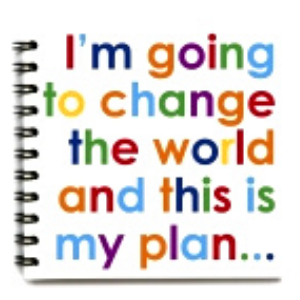 Square Notebook – Change The World