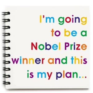 Square Notebook – Nobel Prize Winner