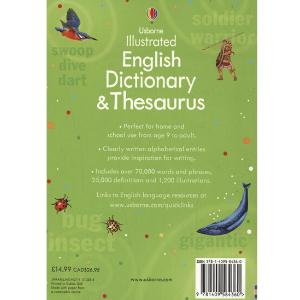 Usborne Illustrated English Dictionary & Thesaurus- 9781409584360