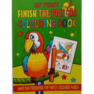 WF Graham -Finish The Picture Colouring Book 4